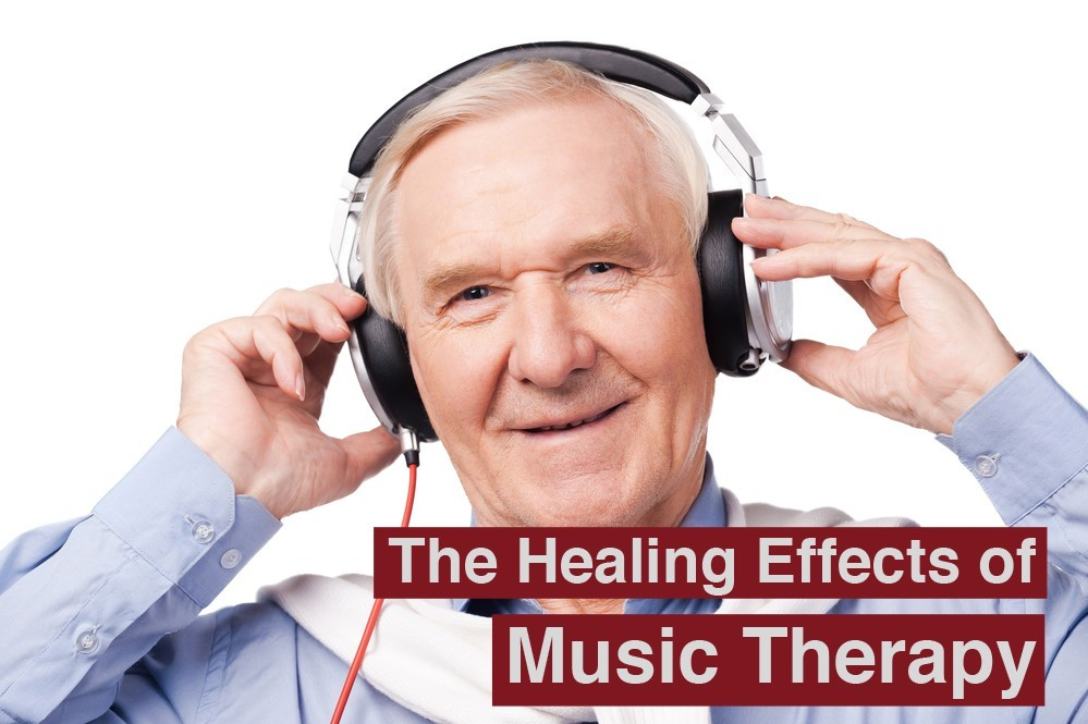 Music for all ages. Portrait of senior man in headphones listening