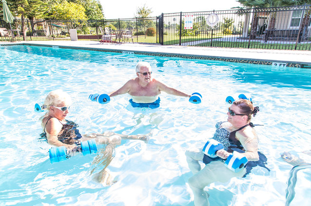Residents Enjoy Outdoor Pools and More