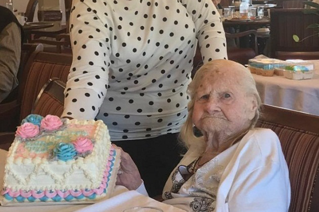 """The Landing's """"Aunt Mina"""" Celebrates her 105Th Birthday in Grand Style"""